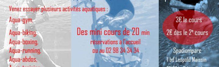 Soirée Spadium Aqua Fitness Vendredi 31 Août